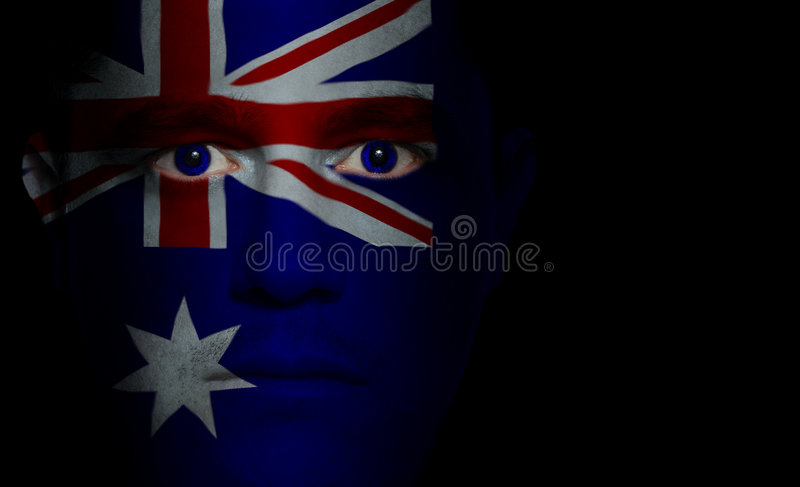 Download Australian Flag - Male Face Royalty Free Stock Photography - Image: 3133027