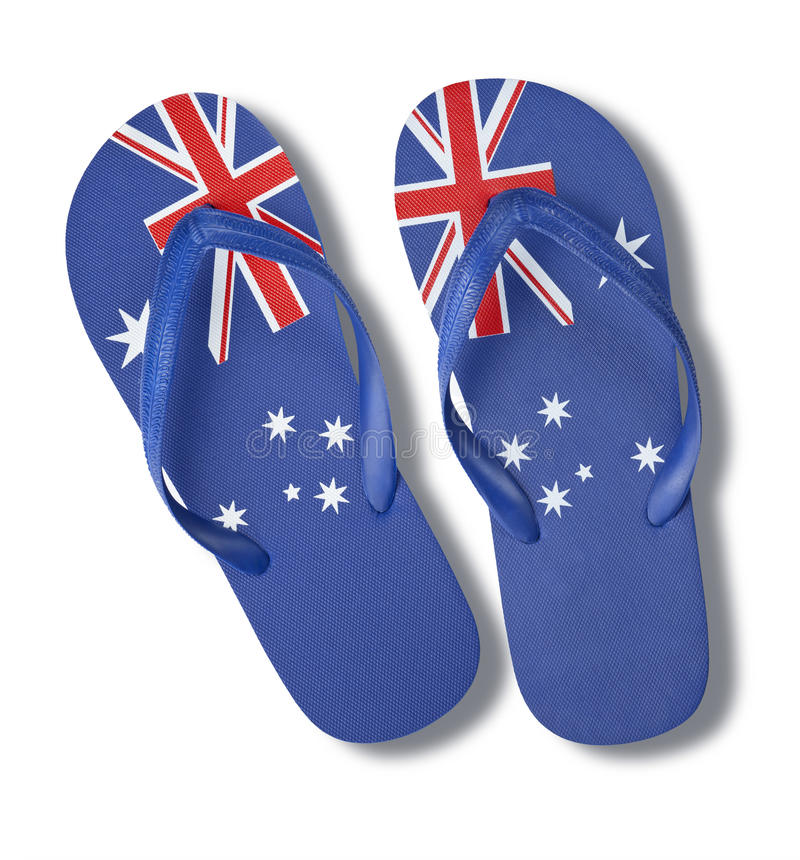 Australian Australia Day Flag Thongs royalty free stock images