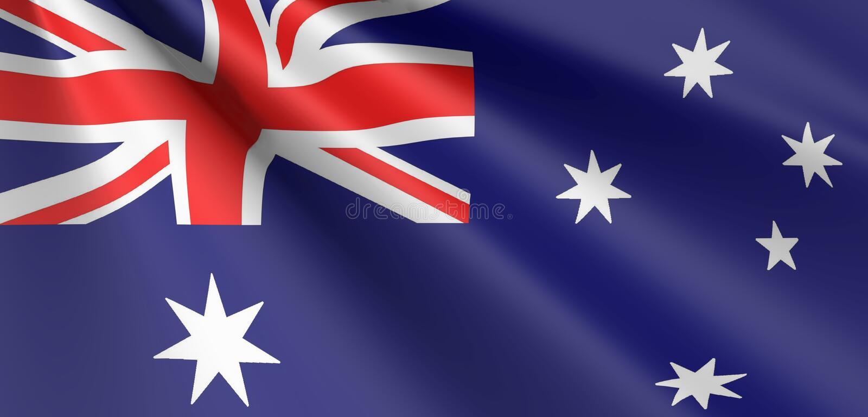 Australian flag waving royalty free stock photography
