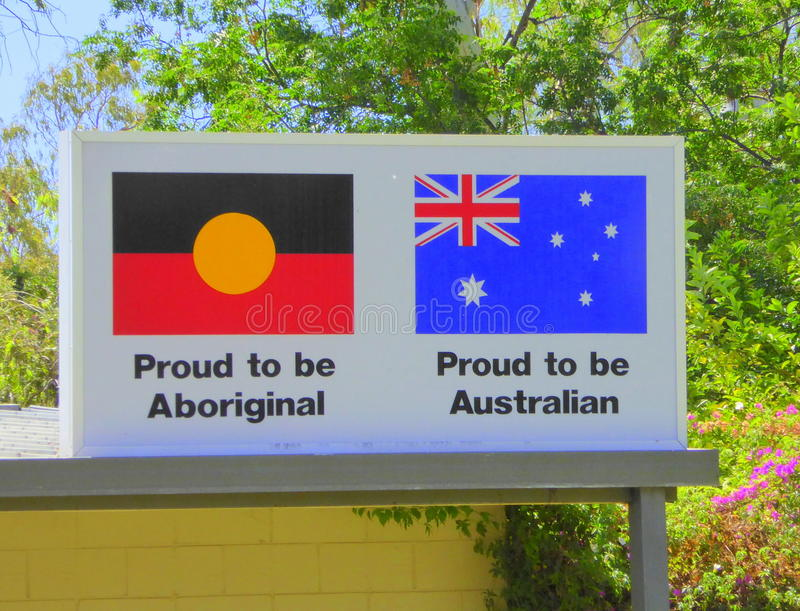 Two Australian flags on billboard. The two flags of Australia stock photos
