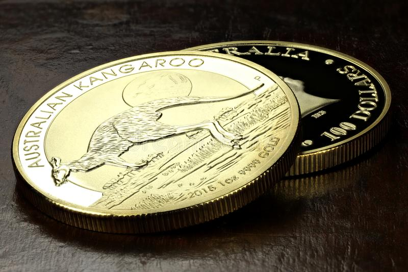 Australian gold coins royalty free stock photography