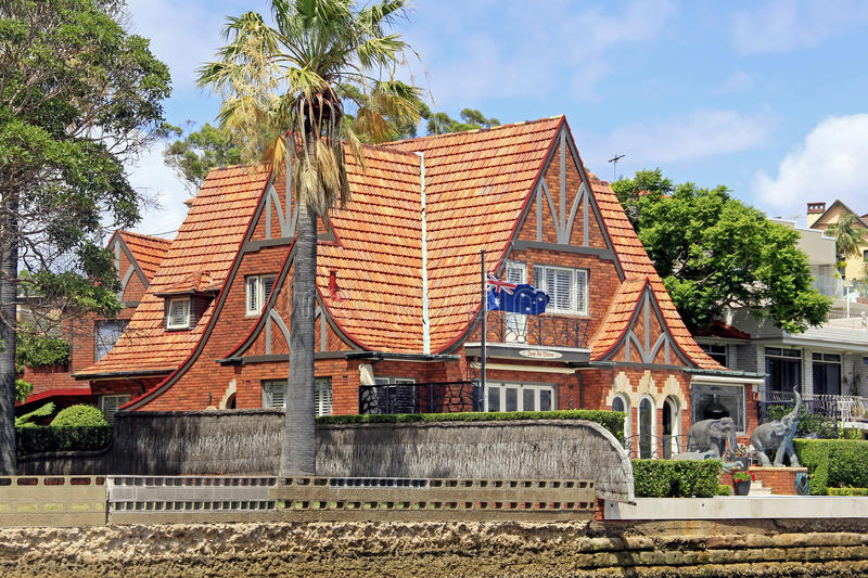 Australian House. Australian brick house office building in the suburb stock image