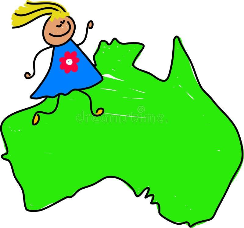 Australian kid royalty free illustration