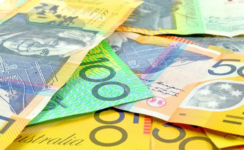 Australian money. Closeup as a background royalty free stock photos