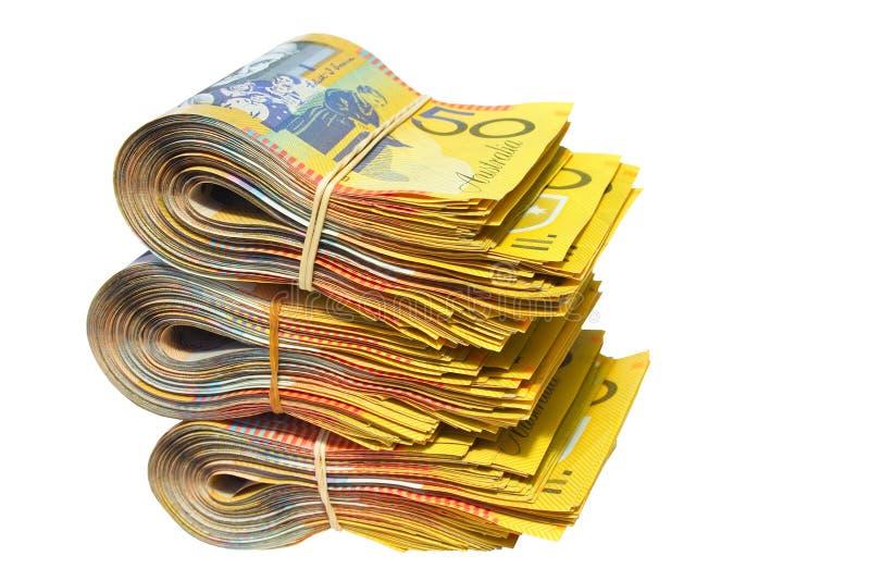 Australian Money. Isolated on a white background stock image