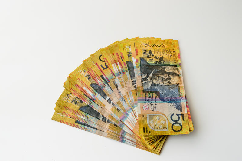 Australian Money - Aussie currency. Background royalty free stock photography