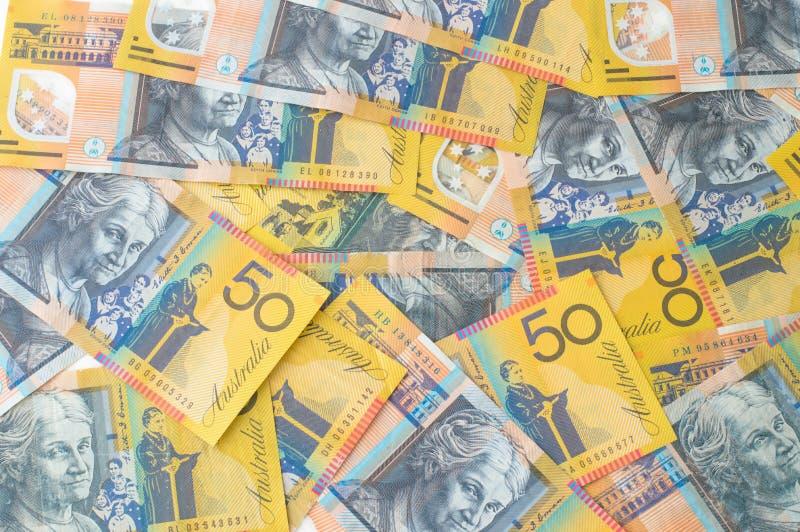 Australian Money - Aussie currency. Background royalty free stock photo