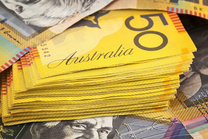 Australian Money Background. Fifty dollar notes royalty free stock image