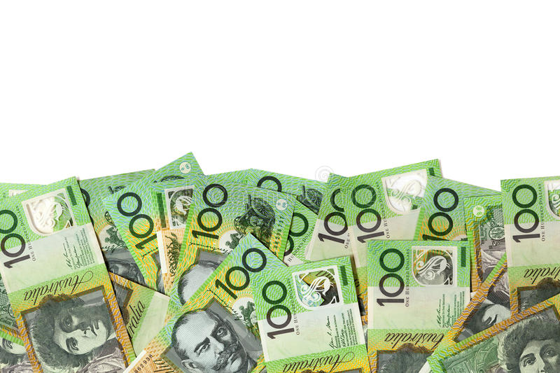 Download Australian Money Border Over White Stock Image - Image: 27417809