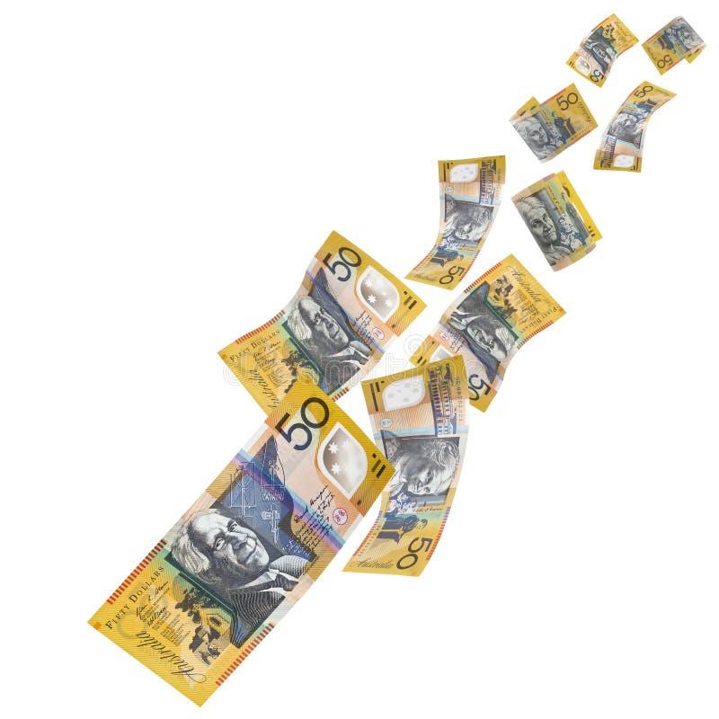 Australian Money Falling Stock Image