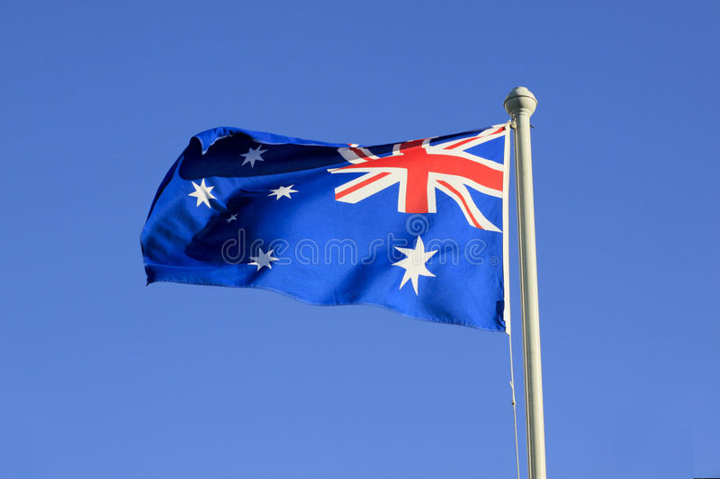 Download Australian national flag stock photo. Image of building - 12145444
