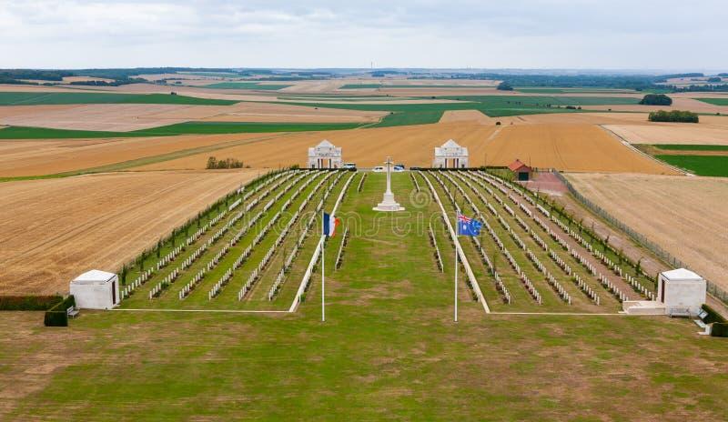 Australian National Memorial near Villers-Bretonneux, Somme, France stock photography