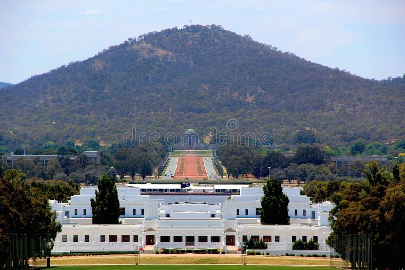 Australian Old Parliament Building, Canberra, Australian Capital Territory, Australia. NPhoto taken on: December 9th, 2012 royalty free stock photography