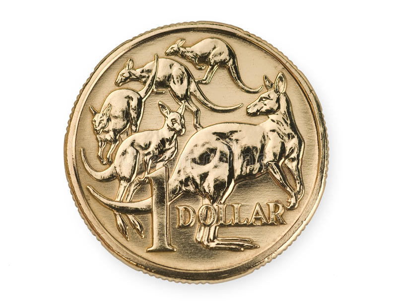 Australian One Dollar Coin. Currency royalty free stock photography