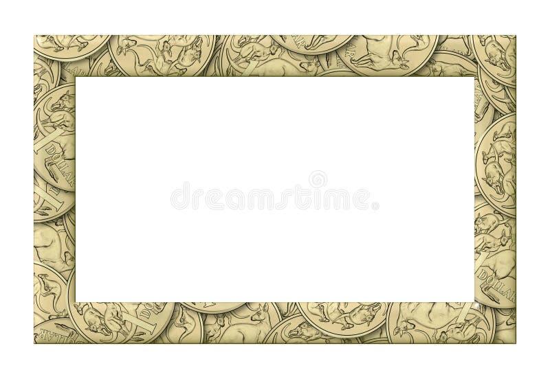 Australian one dollar coins background frame stock photos