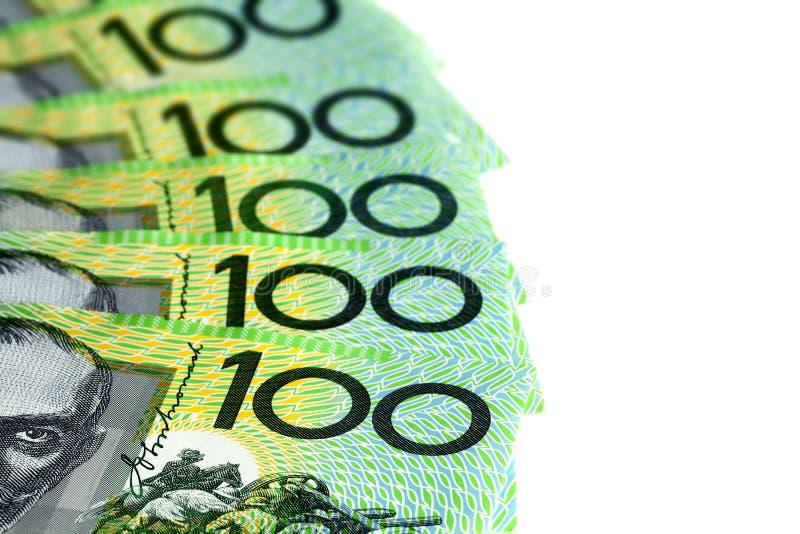 Download Australian One Hundred Dollar Bills Over White Stock Image - Image: 30209471