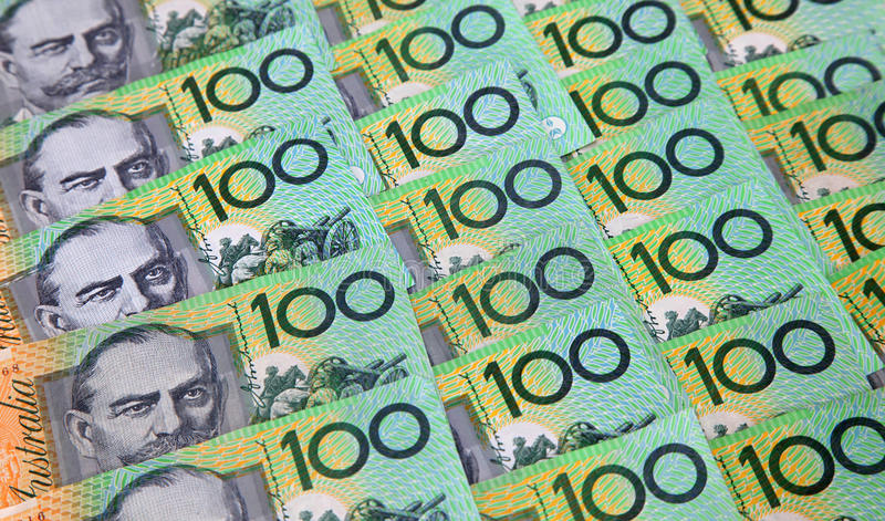 Australian One Hundred Dollar Notes. Australian 100 dollar notes stock photography