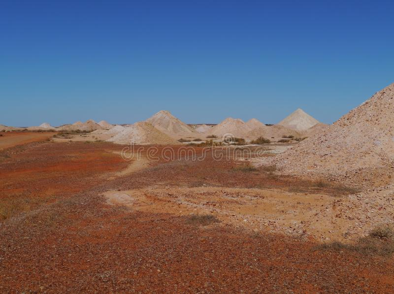 Australian opal mines. Opal mines in Coober Pedy in the outback of Australia stock photo