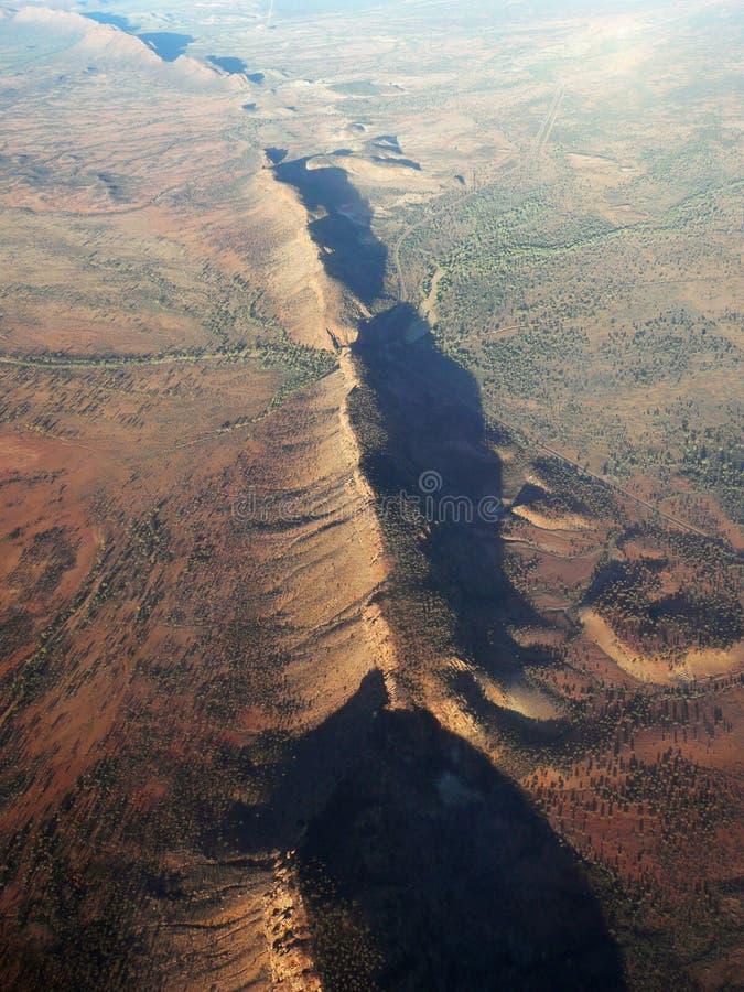 Australian Outback. An aerial shot of the Australian outback stock photos