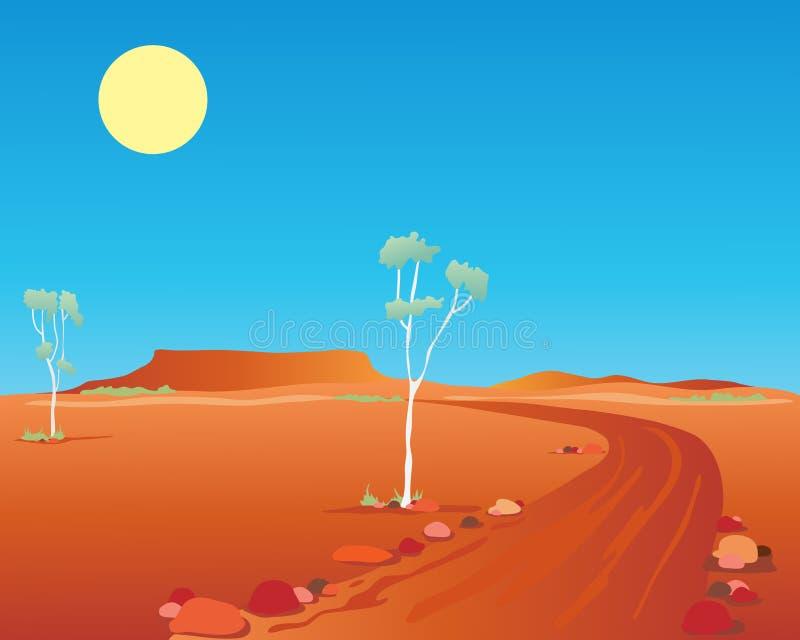 Australian outback royalty free illustration