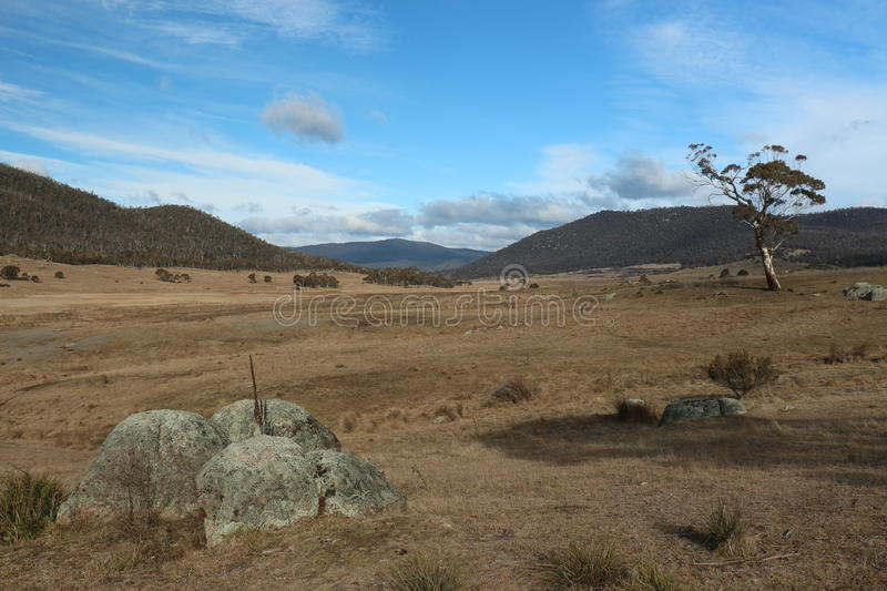 Australian Outback Valley - ACT. A picture of the Orroral Valley just outside of Canberra stock image