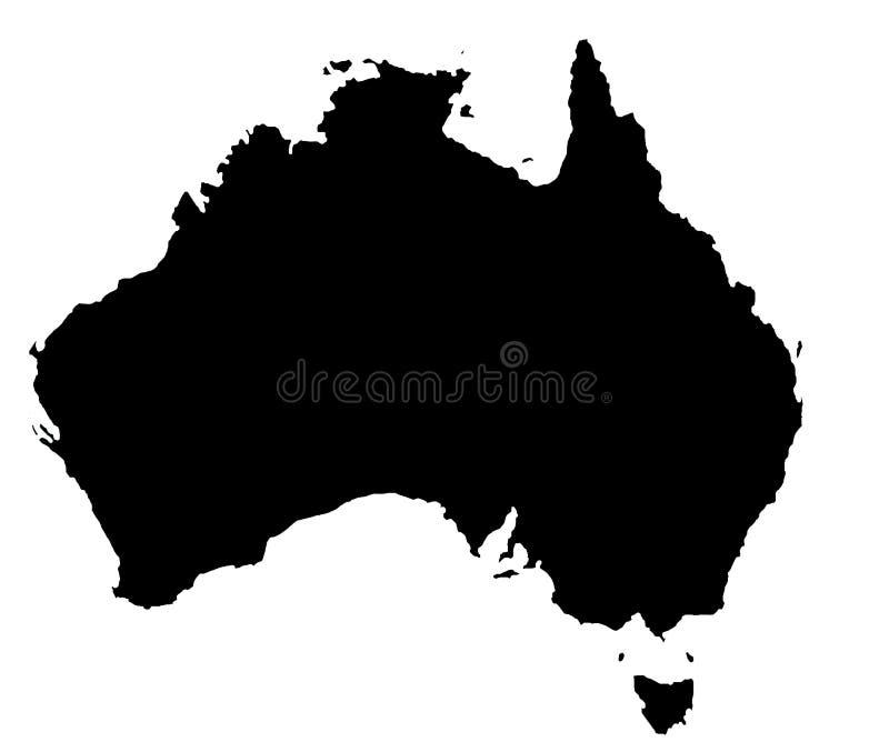 Australian outline vector illustration