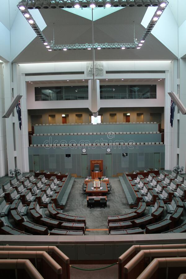 Australian Parliament in the capital Canberra, Australia. The Australian Parliament in the capital Canberra, Australia royalty free stock photography