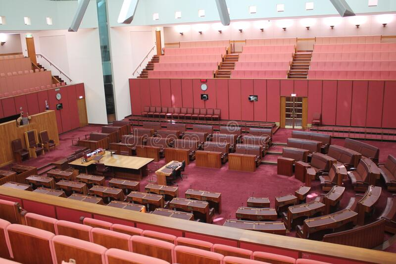 Australian Parliament in the capital Canberra, Australia. The Australian Parliament in the capital Canberra, Australia stock photography
