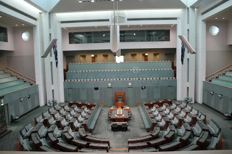 Australian Parliament in the capital Canberra, Australia. The Australian Parliament in the capital Canberra, Australia stock photo