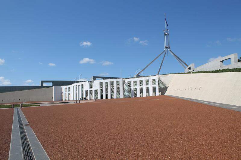 Australian Parliament in the capital Canberra, Australia. The Australian Parliament in the capital Canberra, Australia royalty free stock images
