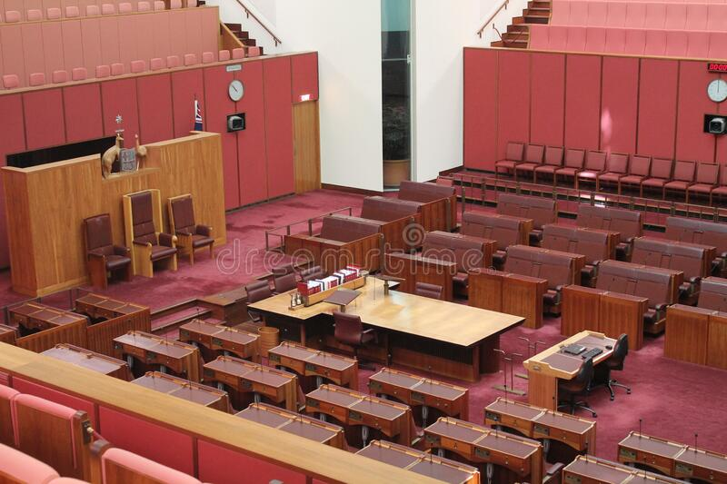 Australian Parliament in the capital Canberra, Australia. The Australian Parliament in the capital Canberra, Australia royalty free stock photos