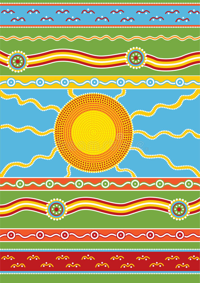 Download Australian pattern stock vector. Image of background - 12089952