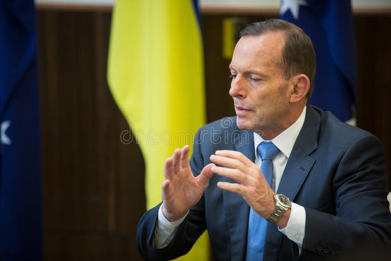 Australian Prime Minister Tony Abbott royalty free stock photography