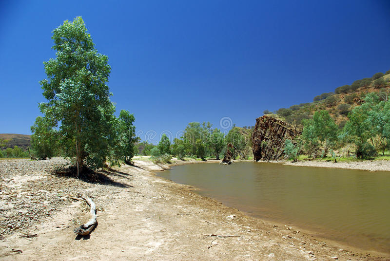 Australian river view royalty free stock images