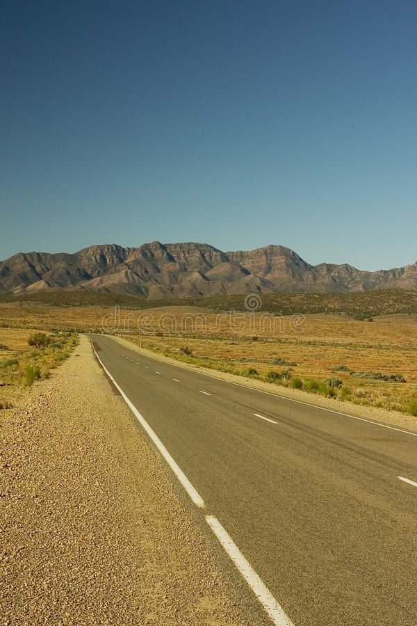 Australian Road. Flinders Ranges Road stock photo