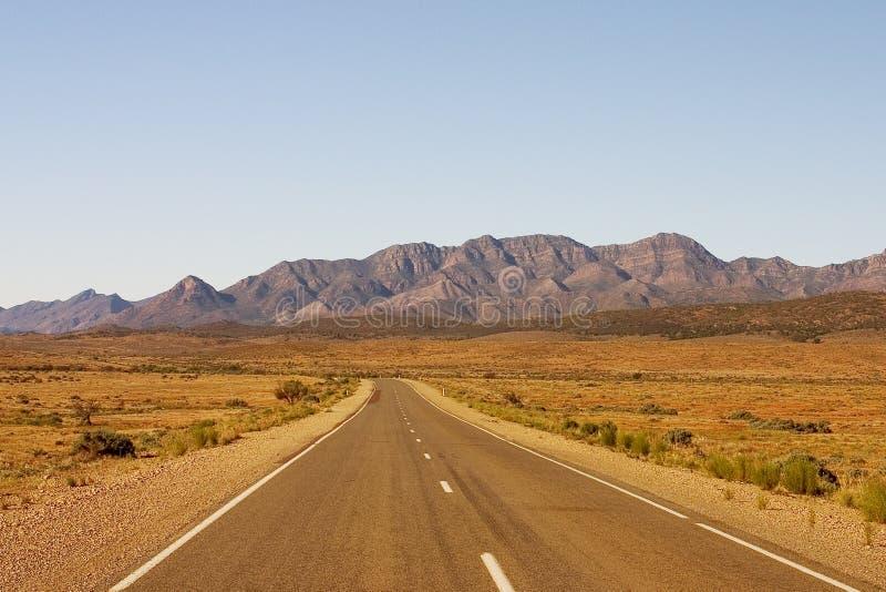 Australian Road. Flinders Ranges Road stock image