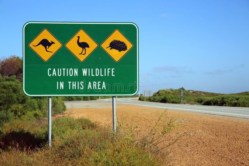 Australian Road Sign stock photos