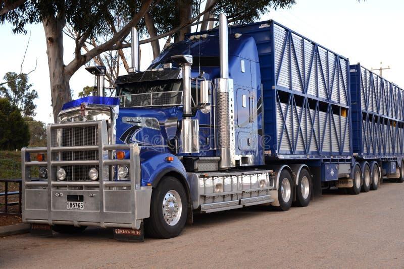 Australian road train truck royalty free stock photo