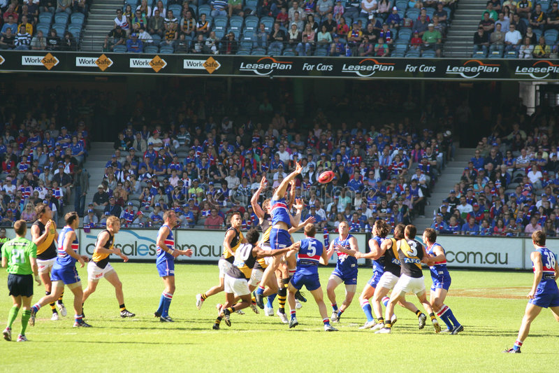 Australian rules football stock photography