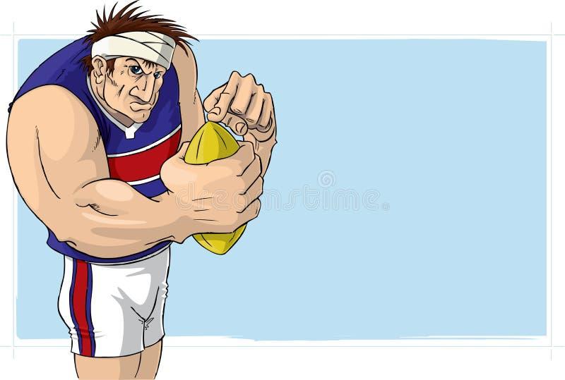 Australian Rules Football royalty free illustration