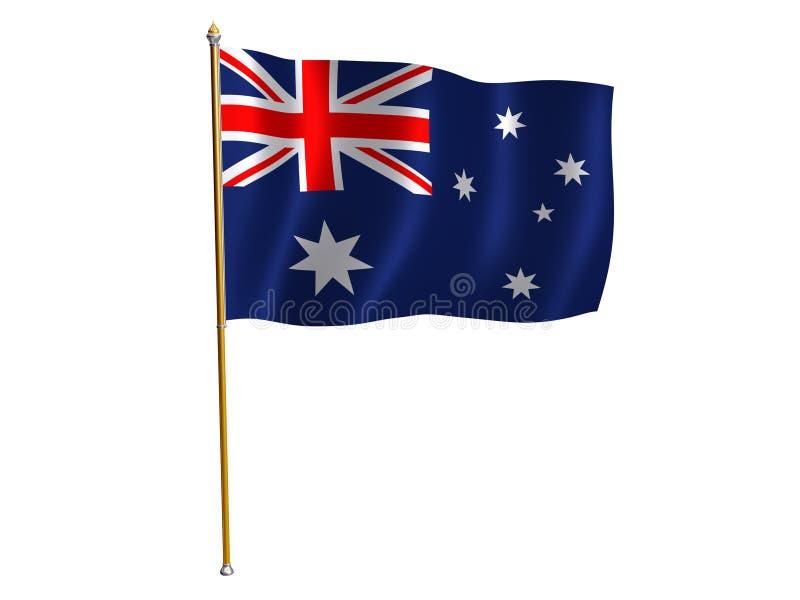 Australian silk flag. Silk flag of Australia vector illustration