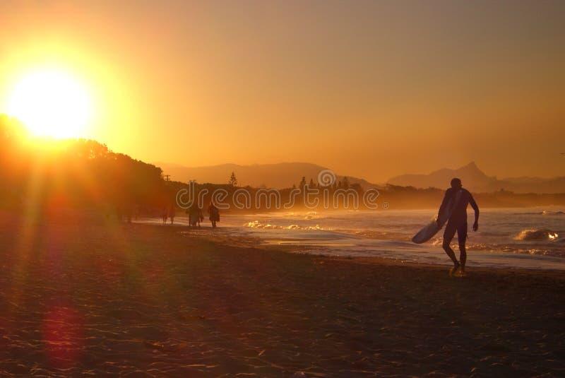 Australian sunset beach royalty free stock image