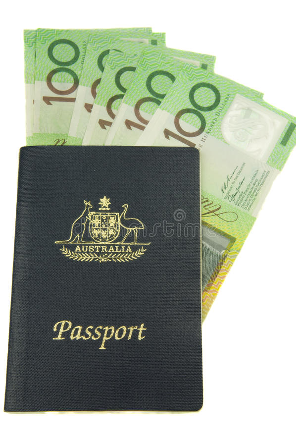 Australian Travel money stock photo