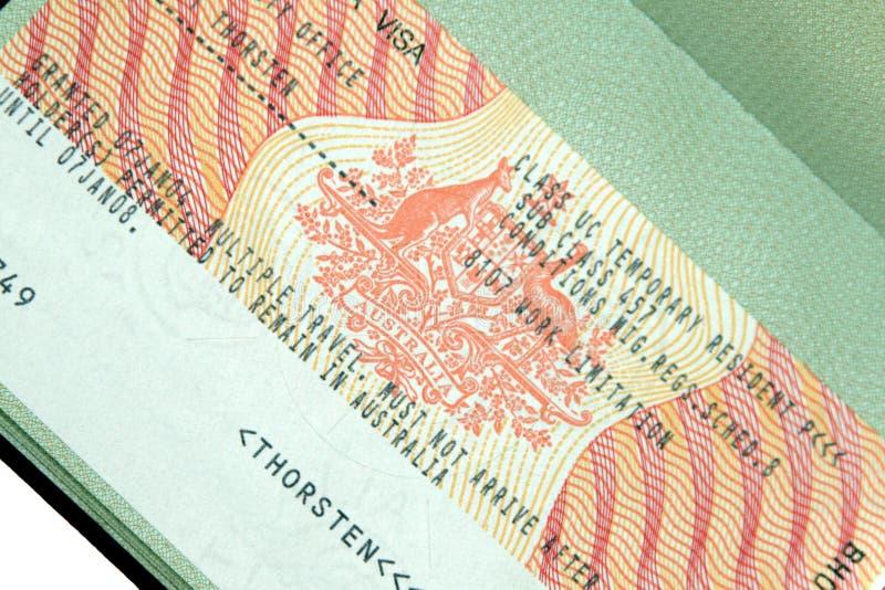 Australian Visa stock photo