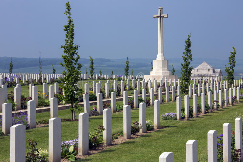 Australian War Cemetery - The Somme - France stock photo