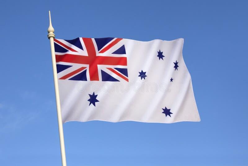 Australian White Ensign - Royal Australian Navy. Australian White Ensign - a naval ensign used by ships of the Royal Australian Navy from 1967 onwards royalty free stock photography