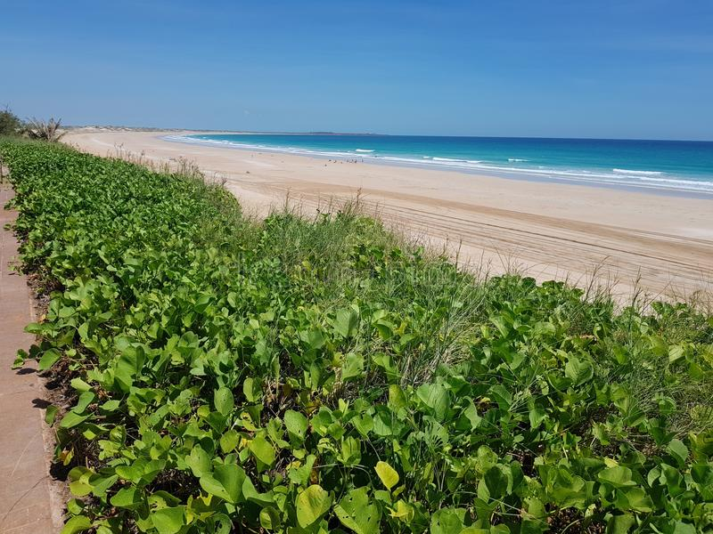 Australiano de Broome de la playa del cable interior fotos de archivo