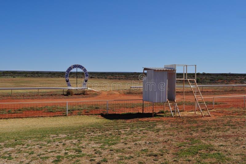 Australiano del club de la carrera de caballos de Yalgoo interior fotografía de archivo libre de regalías