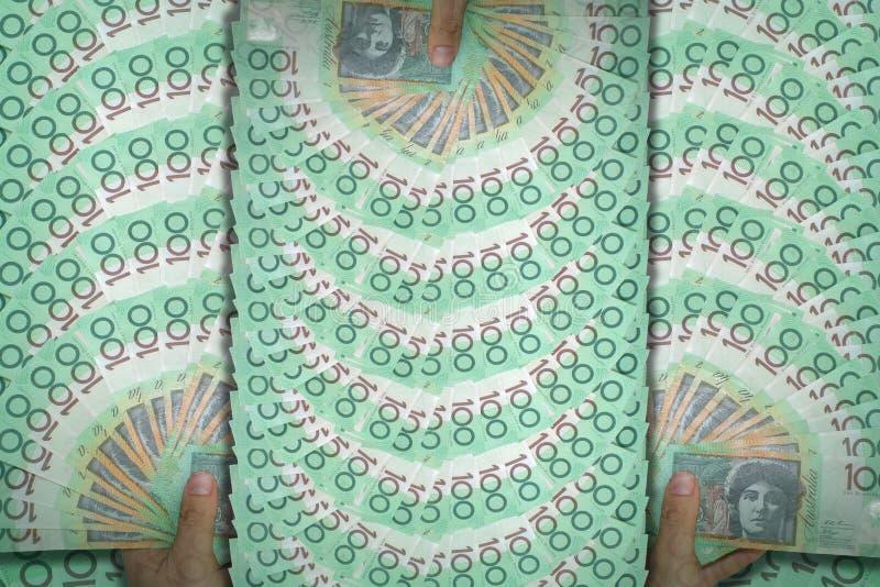Australiano del dinero imagen de archivo