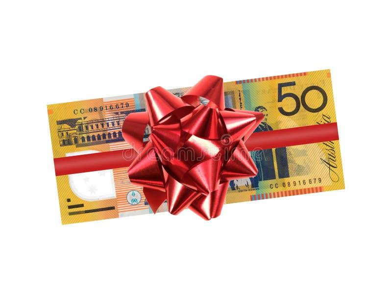 Australiano nota de cinqüênta dólares imagem de stock